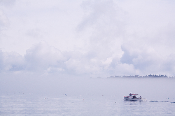 Maine Lobsterboat Heading into the Fog