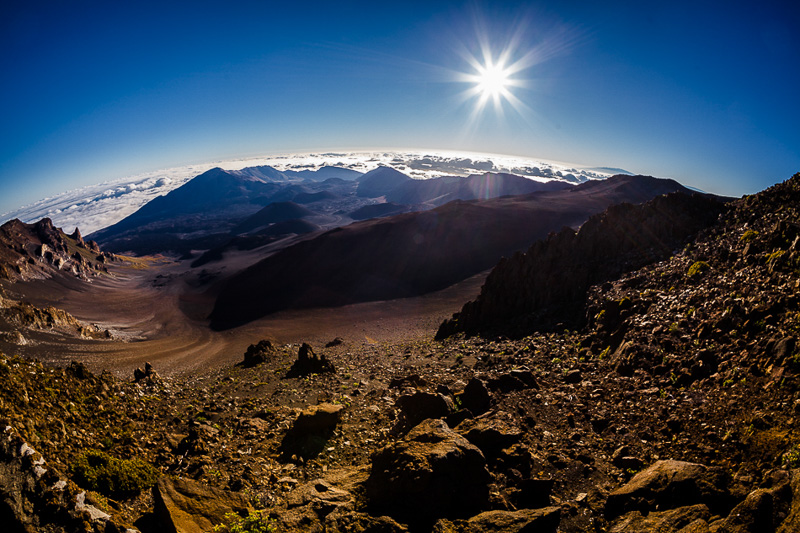 Haleakala - House of the Sun. 10, 000 feet above the Pacific Ocean