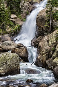 """""""Rocky Mountain National Park Waterfall"""" By: Lisa Griffis"""