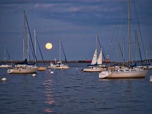 """Boston Harbor Moonrise"" By: Tom Foster"