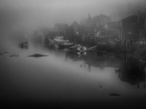 """Peggys Cover Harbor - Dusk"" By: Robert Wilson"