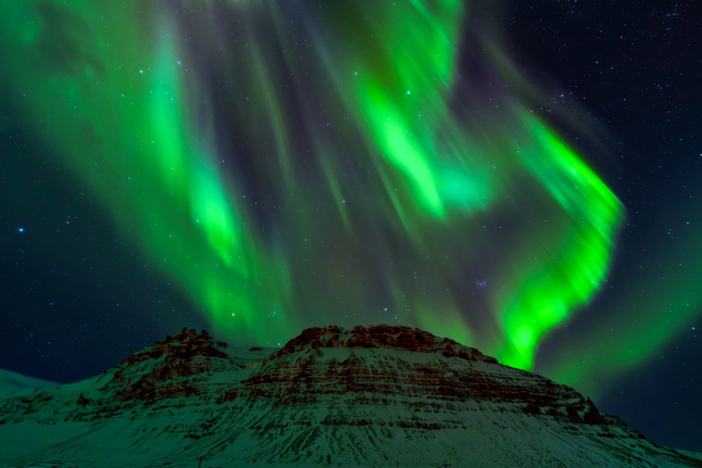 Northern lights shot in Iceland.