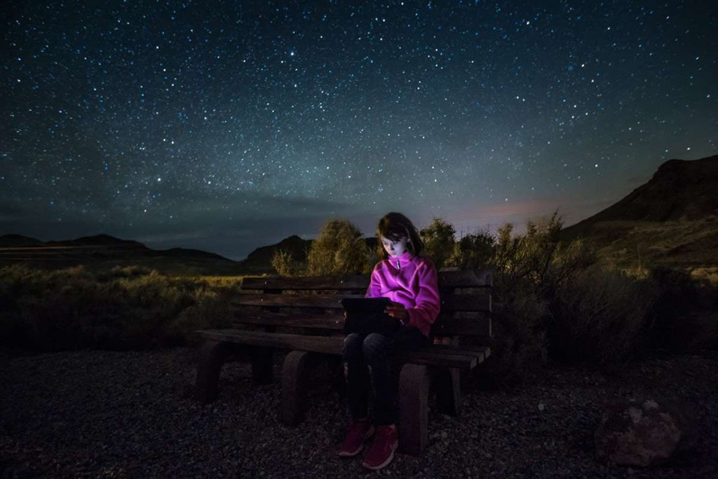 Lit by an iPad in Death Valley National Park