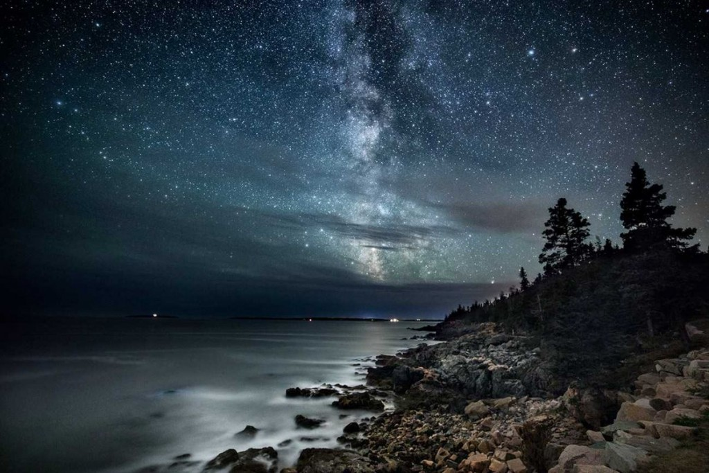 Two images combined in Acadia National Park