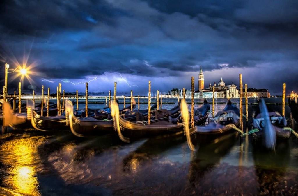 Lightning storm in Venice, Italy