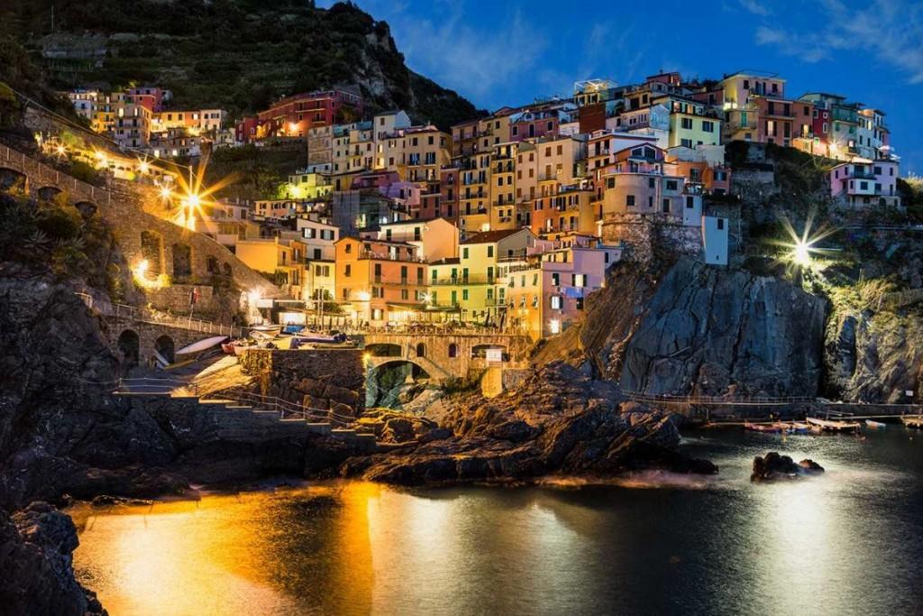 After dark in the Cinque Terre