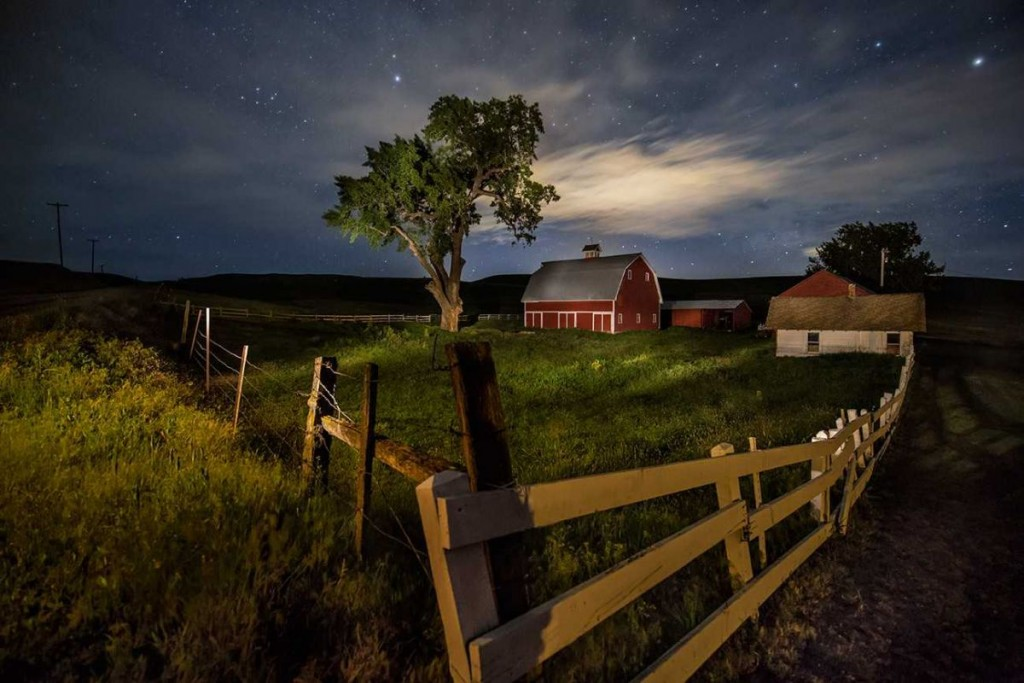 Lightpainting on my friends' property in the Palouse